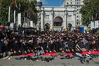 Shiah Muslims mark Ashura in London. 10-9-19