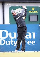 27 May 2015; Peter Lawrie tees up at the 10th<br /> <br /> Dubai Duty Free Irish Open Golf Championship 2015, Pro-Am. Royal County Down Golf Club, Co. Down. Picture credit: John Dickson / DICKSONDIGITAL