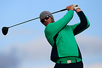 Peter O'Keeffe from Ireland on the 5th tee during Round 3 Singles of the Men's Home Internationals 2018 at Conwy Golf Club, Conwy, Wales on Friday 14th September 2018.<br /> Picture: Thos Caffrey / Golffile<br /> <br /> All photo usage must carry mandatory copyright credit (&copy; Golffile | Thos Caffrey)