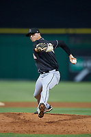 Jupiter Hammerheads relief pitcher Lukas Schiraldi (45) delivers a pitch during a game against the Clearwater Threshers on April 9, 2018 at Spectrum Field in Clearwater, Florida.  Jupiter defeated Clearwater 9-4.  (Mike Janes/Four Seam Images)