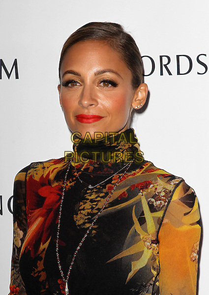 Nicole Richie<br /> Nicole Richie hosts grand opening of Nordstrom at The Americana at brand to benefit Ascencia And Hillsides held at Nordstrom at The Americana at Brand, Glendale, California, USA.<br /> September 17th, 2013<br /> headshot portrait lipstick yellow black red pattern print high collar  <br /> CAP/ADM/KB<br /> &copy;Kevan Brooks/AdMedia/Capital Pictures
