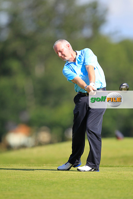 Kevin Foy (Stepaside) on the 6th tee during the Johnston Mooney &amp; O'Brien PGA Challenge Round 1 at Carton House Golf Club  7th August 2013 <br /> Picture:  Thos Caffrey / www.golffile.ie