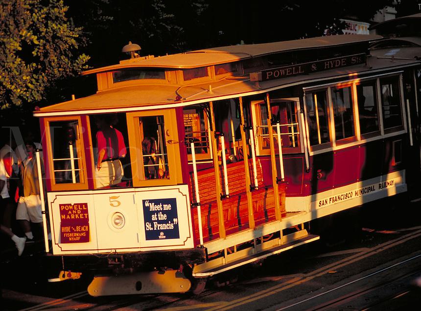 cable car San Francisco CA. San Francisco California United States.