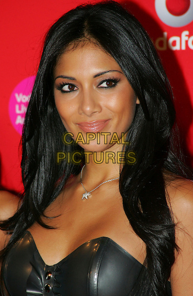 NICOLE SCHERZINGER .Vodafone Live Music Awards 2008 at the Carling Academy, Brixton, London - September 18th 2008.portrait headshot sherzinger star necklace black strapless .CAP/ROS.©Steve Ross/Capital Pictures
