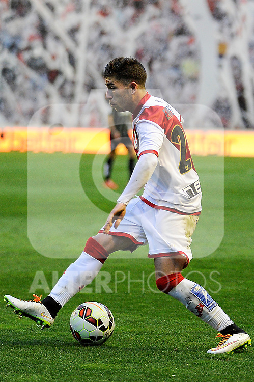 Rayo Vallecano´s Adrian Embarba during 2014-15 La Liga match between Rayo Vallecano and Malaga CF at Rayo Vallecano stadium in Madrid, Spain. March 21, 2015. (ALTERPHOTOS/Luis Fernandez)