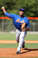New York Mets pitcher Jeurys Familia #75 delivers a pitch during a minor league spring training intrasquad game at the Port St. Lucie Training Complex on March 27, 2012 in Port St. Lucie, Florida.  (Mike Janes/Four Seam Images)