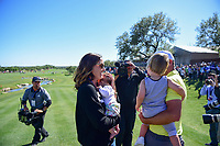 Kevin Chappell (USA) and wife Elizabeth celebrate on the 18th green following round 4 of the Valero Texas Open, AT&amp;T Oaks Course, TPC San Antonio, San Antonio, Texas, USA. 4/23/2017.<br /> Picture: Golffile | Ken Murray<br /> <br /> <br /> All photo usage must carry mandatory copyright credit (&copy; Golffile | Ken Murray)