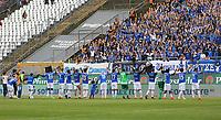 Lilien feiern mit den Fans - 28.04.2018: SV Darmstadt 98 vs. 1. FC Union Berlin, Stadion am Boellenfalltor, 32. Spieltag 2. Bundesliga