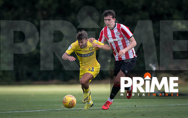 Scott Kashket of Wycombe Wanderers during the behind closed doors friendly between Brentford B and Wycombe Wanderers at Brentford Football Club Training Ground & Academy, 100 Jersey Road, TW5 0TP, United Kingdom on 3 September 2019. Photo by Andy Rowland.