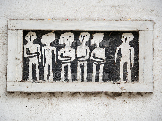 Pictograph (graffiti) Along the historic streets of Veliko Tarnovo, Bulgaria