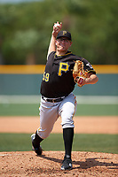 Pittsburgh Pirates Frank Duncan (59) during a minor league Spring Training game against the New York Yankees on April 1, 2016 at Pirate City in Bradenton, Florida.  (Mike Janes/Four Seam Images)
