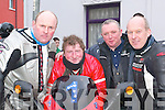 Road race: John Patton, Leith, John Downey, Abbeyfeale, Junior Moriarty, .Tralee and Gordon Burrows, Tralee who were participating in the fundraising .poker run which left from the New Kingdom Bar in Listowel on Sunday and .aimed to raise money for the Athea Road Race this summer.   Copyright Kerry's Eye 2008