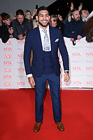 Amir Khan at the National Television Awards 2018 at the O2 Arena, Greenwich, London, UK. <br /> 23 January  2018<br /> Picture: Steve Vas/Featureflash/SilverHub 0208 004 5359 sales@silverhubmedia.com
