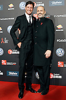 Luis Medina (l) and Miguel Bose dunring Barcelona 5th AIDS Ceremony. November 24,2014.(ALTERPHOTOS/Acero) /NortePhoto<br />