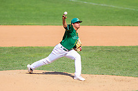 Beloit Snappers pitcher Jesus Zambrano (21) delivers a pitch during a Midwest League game against the Quad Cities River Bandits on June 18, 2017 at Pohlman Field in Beloit, Wisconsin.  Quad Cities defeated Beloit 5-3. (Brad Krause/Four Seam Images)