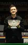 3rd February 2019, Berlin, Germany; Snooker Berlin German Masters in Tempodrom;  Final Kyren Wilson with his winners trophy