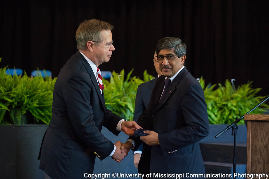 Ikhlas Khan, director, NCNPR, receives a Distinguished Professor Award.  Photo by Kevin Bain/University Communications Photography.