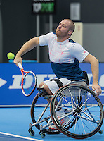 Rotterdam, Netherlands, December 15, 2016, Topsportcentrum, Lotto NK Tennis, Wheelchair, Maikel Scheffers (NED) <br /> Photo: Tennisimages/Henk Koster