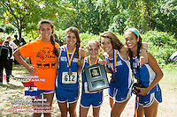 The Notre Dame (Cape Girardeau) girls took 2nd in the 3A Varsity Girls race at the 2013 Hancock Cross Country Invitational.