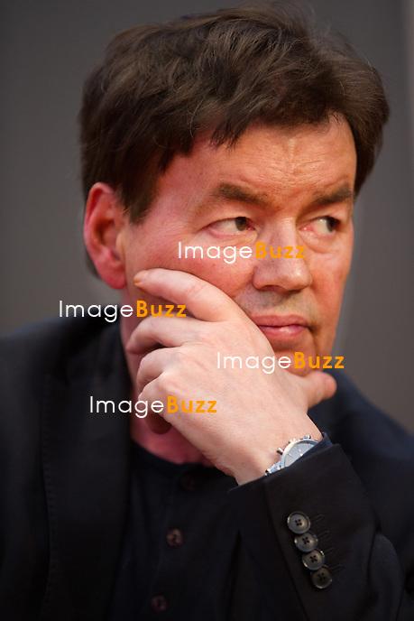 EXCLUSIF : Foire du livre de Bruxelles : Conf&eacute;rence : &quot;Comment r&eacute;enchanter la Justice&quot; - Avec Bernard Wesphael, Alessandra d'Angelo et Jean-Fran&ccedil;ois Funck, magistrat - Mod&eacute;rateur : Dominique Demoulin.<br /> Belgique, Bruxelles, 9 mars 2017.<br /> Pic :  Bernard Wesphael