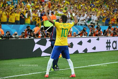 Neymar (BRA), <br /> JUNE 12, 2014 - Football /Soccer : <br /> 2014 FIFA World Cup Brazil <br /> Group Match -Group A- <br /> between Brazil 3-1 Croatia <br /> at Arena de Sao Paulo, Sao Paulo, Brazil. <br /> (Photo by YUTAKA/AFLO SPORT) [1040]