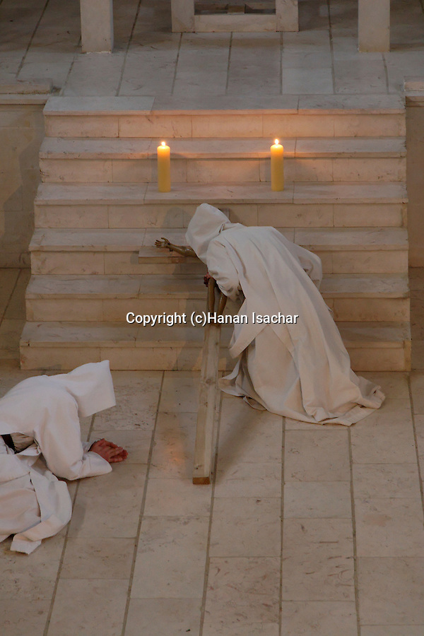 Easter, Le Vendredi Saint (Good Friday) holiday at the Monastery of the Sisters of Bethlehem of the Assumption of the Virgin and of Saint Bruno in Beth Gemal, Israel<br />