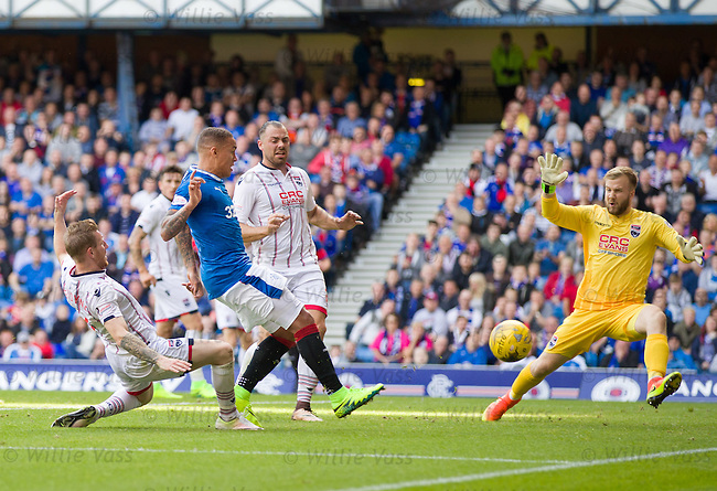 James Tavernier denied in front of goal