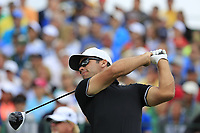 Paul Casey (ENG) tees off the 1st tee to start his match during Sunday's Final Round of the 117th U.S. Open Championship 2017 held at Erin Hills, Erin, Wisconsin, USA. 18th June 2017.<br /> Picture: Eoin Clarke | Golffile<br /> <br /> <br /> All photos usage must carry mandatory copyright credit (&copy; Golffile | Eoin Clarke)