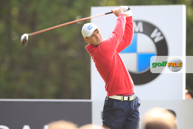 Martin Kaymer (GER) during round 1 of the 2015 BMW PGA Championship over the West Course at Wentworth, Virgina Water, London. 21/05/2015<br /> Picture Fran Caffrey, www.golffile.ie: