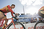 Erik Nordsaeter Resell Uno-X Norwegian Development Team at sign on before the start of Stage 3 of the 2018 Artic Race of Norway, running 194km from Honningsvg to Hammerfest, Norway. 18th August 2018. <br /> <br /> Picture: ASO/Rasmus Kongsore | Cyclefile<br /> All photos usage must carry mandatory copyright credit (© Cyclefile | ASO/Rasmus Kongsore)