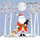 Kate, CHRISTMAS SANTA, SNOWMAN, WEIHNACHTSMÄNNER, SCHNEEMÄNNER, PAPÁ NOEL, MUÑECOS DE NIEVE, paintings+++++Under the Moon #,GBKM440,#x#