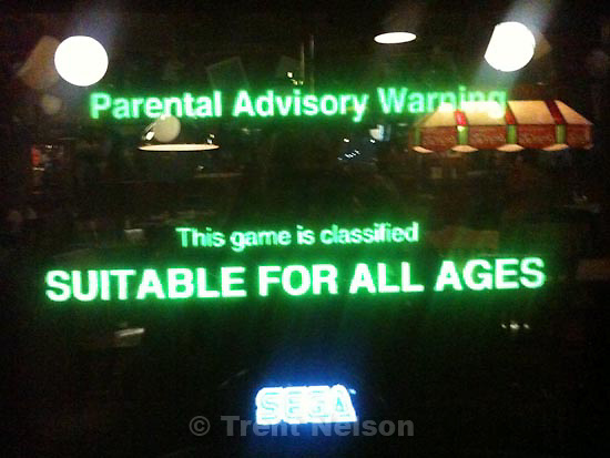 . Friday, October 30 2009.Jambo! Safari  videogame in arcade. parental advisory