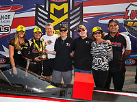 Sep 4, 2017; Clermont, IN, USA; NHRA top fuel driver Steve Torrence celebrates with crew after winning the US Nationals at Lucas Oil Raceway. Mandatory Credit: Mark J. Rebilas-USA TODAY Sports