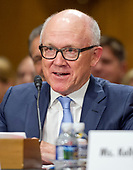 Robert Wood (Woody) Johnson IV, Ambassador-designate of the USA to the United Kingdom of Great Britain and Northern Ireland testifies before the United States Senate Committee on Foreign Relations on his nomination on Capitol Hill in Washington, DC on Thursday, July 20, 2017. Johnson is the owner of the New York Jets of the National Football League.<br /> Credit: Ron Sachs / CNP