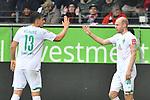 06.10.2019, Commerzbankarena, Frankfurt, GER, 1. FBL, Eintracht Frankfurt vs. SV Werder Bremen, <br /> <br /> DFL REGULATIONS PROHIBIT ANY USE OF PHOTOGRAPHS AS IMAGE SEQUENCES AND/OR QUASI-VIDEO.<br /> <br /> im Bild: Milos Veljkovic (SV Werder Bremen #13), Davy Klaassen (SV Werder Bremen #30)<br /> <br /> Foto © nordphoto / Fabisch