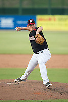 Kannapolis Intimidators relief pitcher Brad Salgado (22) in action against the Hagerstown Suns at CMC-Northeast Stadium on July 19, 2015 in Kannapolis, North Carolina.  The Suns defeated the Intimidators 9-4.  (Brian Westerholt/Four Seam Images)