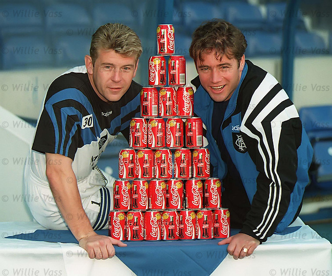 Andy Goram and Ally McCoist at Ibrox to preview the Coca-Cola League Cup Final