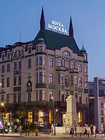 Brunnen und Hotel Moskva, Terazije Platz 20, Belgrad, Serbien, Europa<br /> Fountain and Hotel Moskva, Terazije square 20, Belgrade, Serbia, Europe