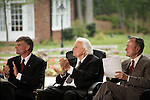 Thursday, May 31, Charlotte, North Carolina. Dedication ceremony for the new Billy Graham Library in Charlotte, North Carolina.. Franklin Graham, Billy Graham and George HW Bush, the keynote speaker.