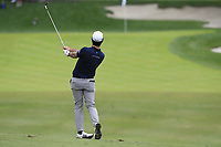 Ricardo Gouveia (POR) plays his 2nd shot on the 10th hole during Sunday's storm delayed Final Round 3 of the Andalucia Valderrama Masters 2018 hosted by the Sergio Foundation, held at Real Golf de Valderrama, Sotogrande, San Roque, Spain. 21st October 2018.<br /> Picture: Eoin Clarke | Golffile<br /> <br /> <br /> All photos usage must carry mandatory copyright credit (&copy; Golffile | Eoin Clarke)