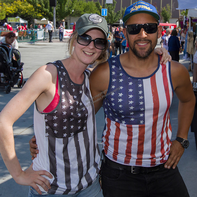 Felicity and Luis during Star Spangled Sparks on Wednesday July 4, 2018 in downtown Sparks.