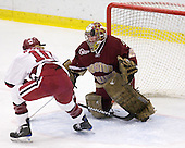 Anna McDonald (Harvard - 10), Corinne Boyles (BC - 29) - The Harvard University Crimson defeated the Boston College Eagles 5-0 in their Beanpot semi-final game on Tuesday, February 2, 2010 at the Bright Hockey Center in Cambridge, Massachusetts.