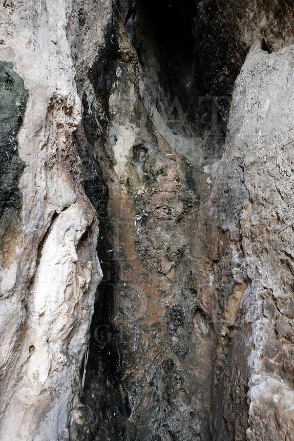 Grotte preistoriche a Balzi Rossi, nei pressi di Ventimiglia.<br /> Prehistoric grottoes in Balzi Rossi, near Ventimiglia.<br /> UPDATE IMAGES PRESS/Riccardo De Luca
