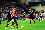 Ivainovic (L) vies with Diego Costa during the UEFA Champions League semifinal first leg football match Club Atletico de Madrid vs Chelsea FC at the Vicente Calderon stadium in Madrid on April 22, 2014.   PHOTOCALL3000/DP