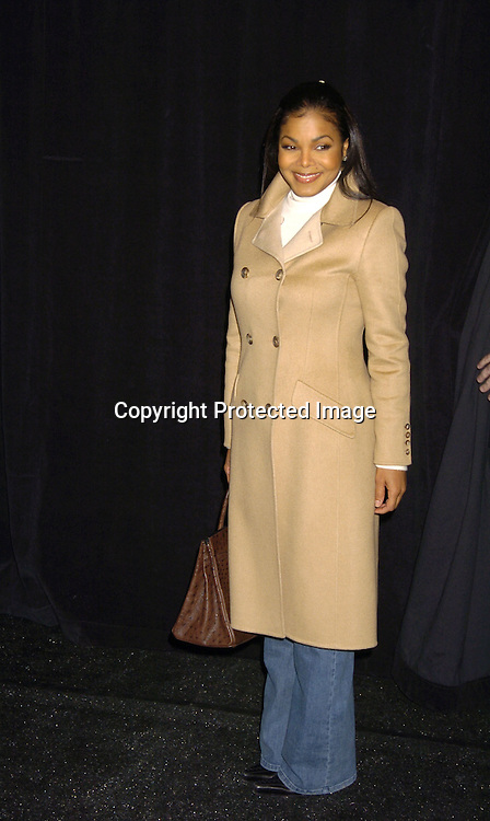 Janet Jackson ..at The Bill Blass Fall 2005 Fashion Show on February 8, 2005  at The Tents in Bryant Park.  Michael Volbracht is the designer. ..Photo by Robin Platzer, Twin Images