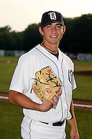 July 7th 2008:  Pitcher Daniel DeLucia of the Oneonta Tigers, Class-A affiliate of Detroit Tigers, during a game at Damaschke Field in Oneonta, NY.  Photo by:  Mike Janes/Four Seam Images