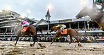 May 4, 2019 : Maximum Security #7, ridden by Luis Saez, leads the way past the historic Twin Spires with Country House #20, ridden by Flavien Prat, close behind in the Kentucky Derby. Maximum Security would go on to finsih first, but was disqualified, thereby giving Country House the Kentucky Derby win on Kentucky Derby Day at Churchill Downs on May 4, 2019 in Louisville, Kentucky. Scott Serio/Eclipse Sportswire/CSM