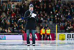 Stockholm 2014-01-10 Bandy Elitserien Hammarby IF - Sandvikens AIK :  <br /> Robert Tennisberg med skridskor ute p&aring; planen var speaker under matchen<br /> (Foto: Kenta J&ouml;nsson) Nyckelord:  portr&auml;tt portrait