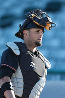 David Vidal #10 of the Bakersfield Blaze during a game against the Lancaster JetHawks at The Hanger on May 13, 2014 in Lancaster California. Lancaster defeated Bakersfield, 1-0. (Larry Goren/Four Seam Images)