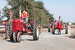 Annual fall Gas-Up at McFarland Ranch near Galt, Calif. of Branch 13, Early-Day Gas Engine and Tractor Association. (EDGE & TA)..Farmall tractors in the parade